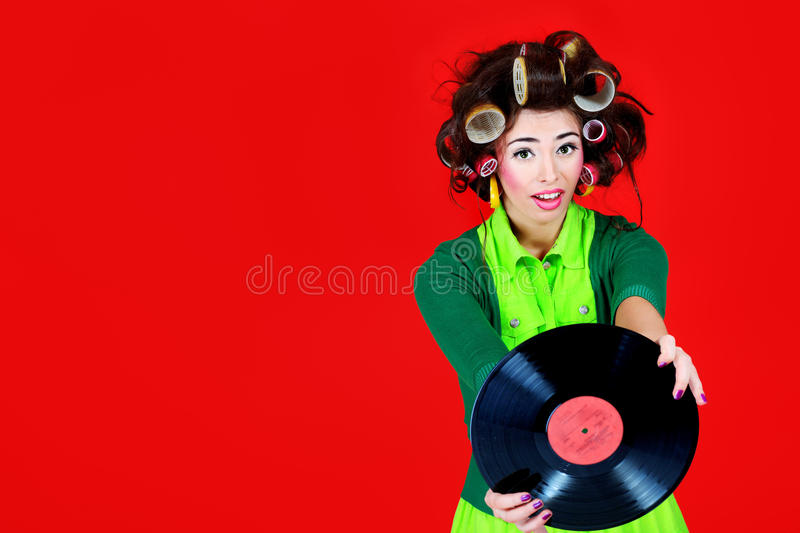 Retro music lover royalty free stock images
