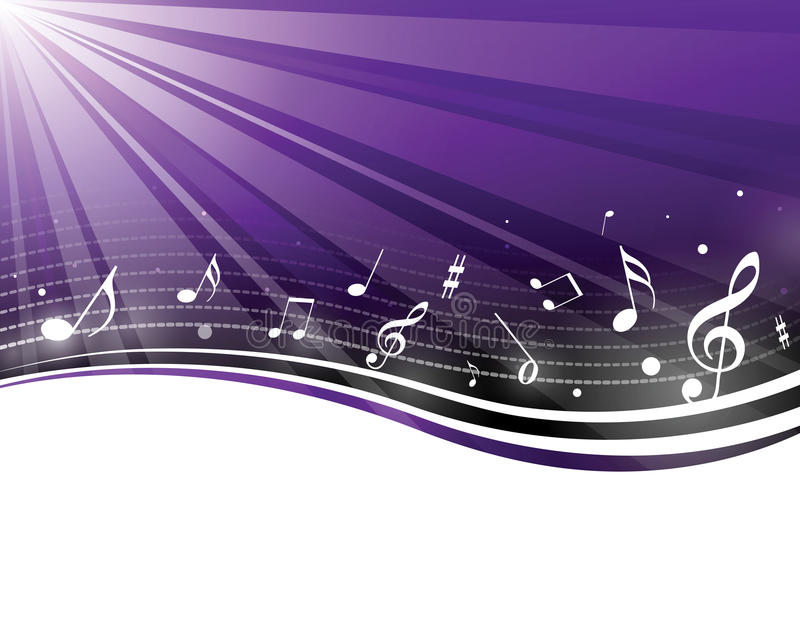 Retro music notes royalty free illustration
