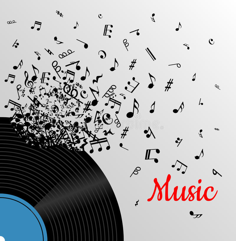 Retro music vintage poster royalty free illustration