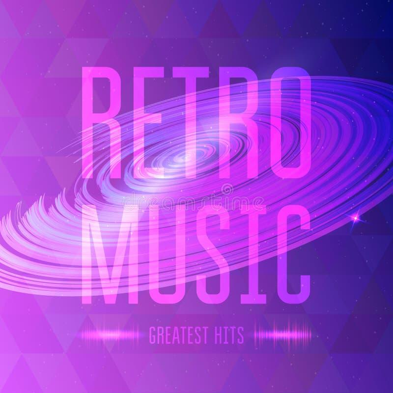 Retro musica illustrazione vettoriale