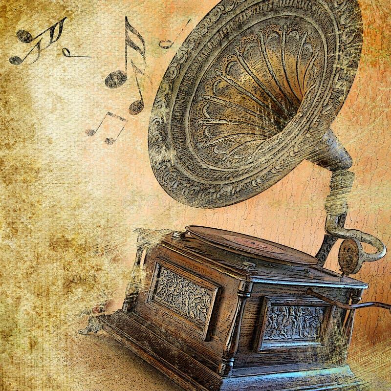 Retro musicale illustrazione vettoriale