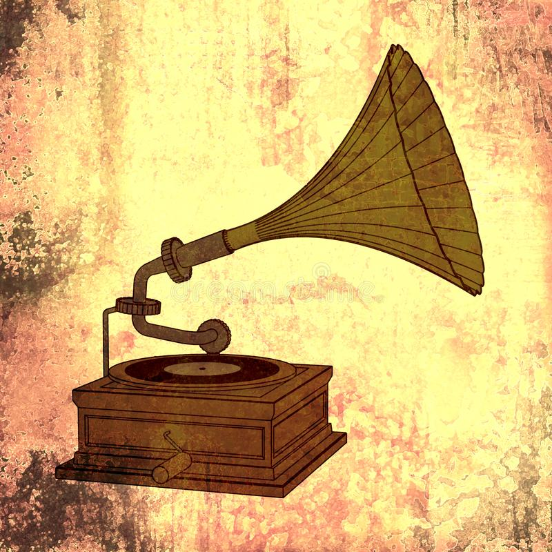 retro musik arkivbild