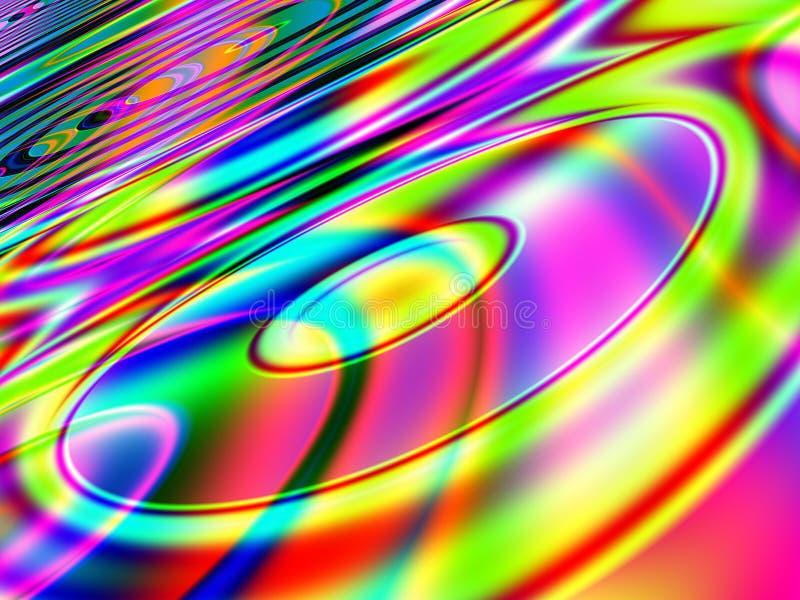Retro- musikalischer CD Hintergrund stock abbildung