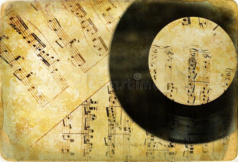 Retro- musikalischer Hintergrund lizenzfreies stockfoto