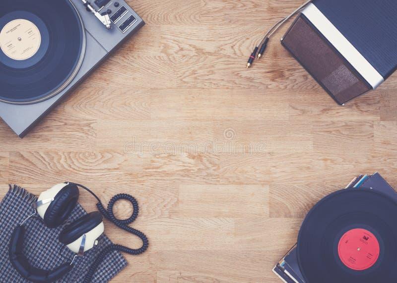 Retro- Musikheldtitel lizenzfreies stockbild