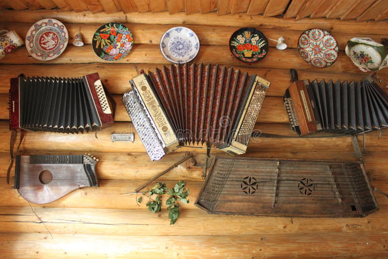 Retro- Musikinstrumente stockfoto