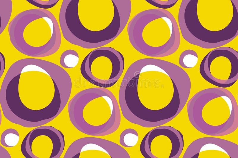 Retro- Muster-Vektorillustration des Hintergrundes 60s Weinlesesiebziger jahre vektor abbildung