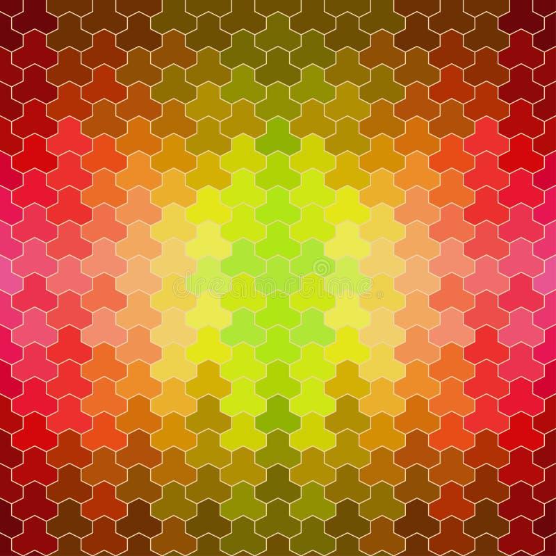 Retro- Muster von geometrischen Formen lizenzfreie abbildung