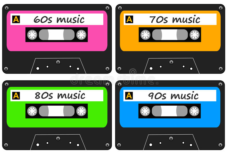 Retro muziek stock illustratie