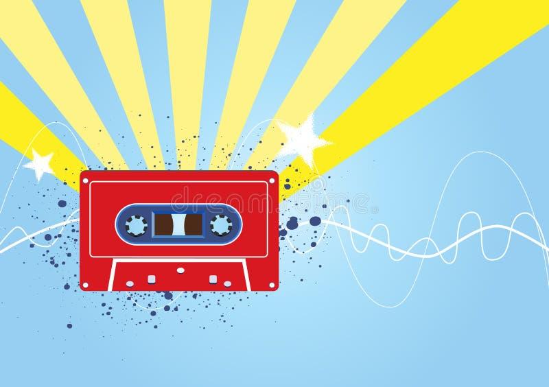 Retro muziekachtergrond royalty-vrije illustratie