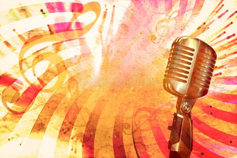 Retro muziekachtergrond stock illustratie