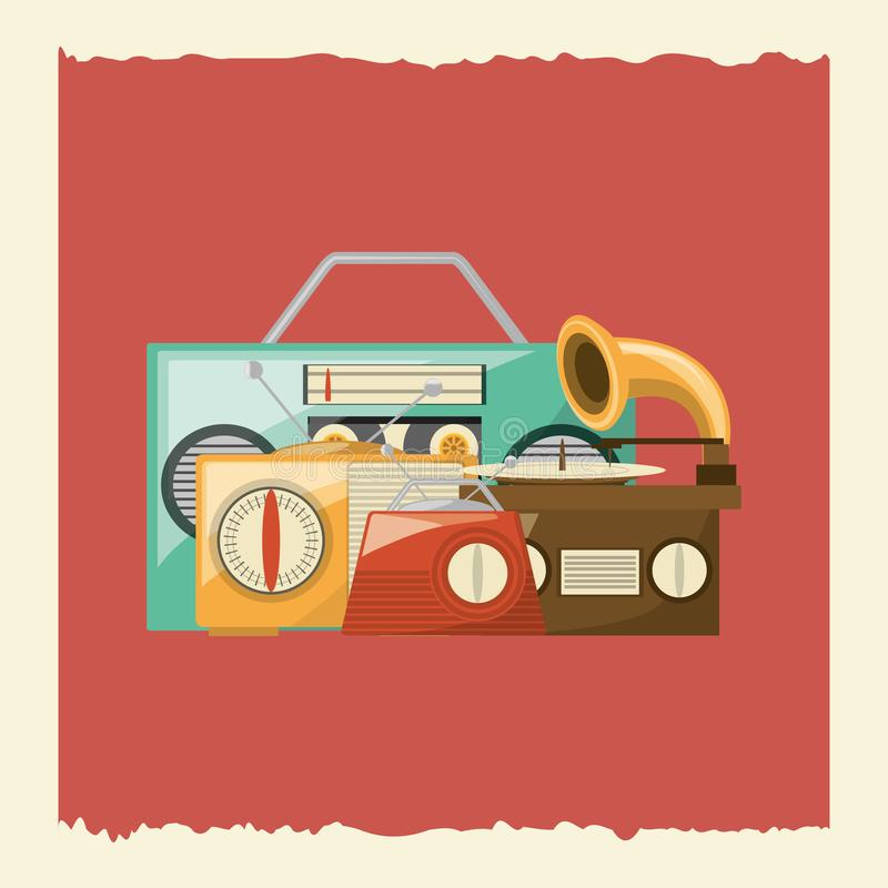 Retro muziekontwerp vector illustratie