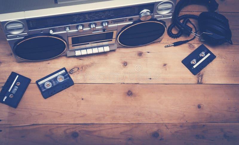 Retro muzyczny chodnikowa wizerunek obraz stock