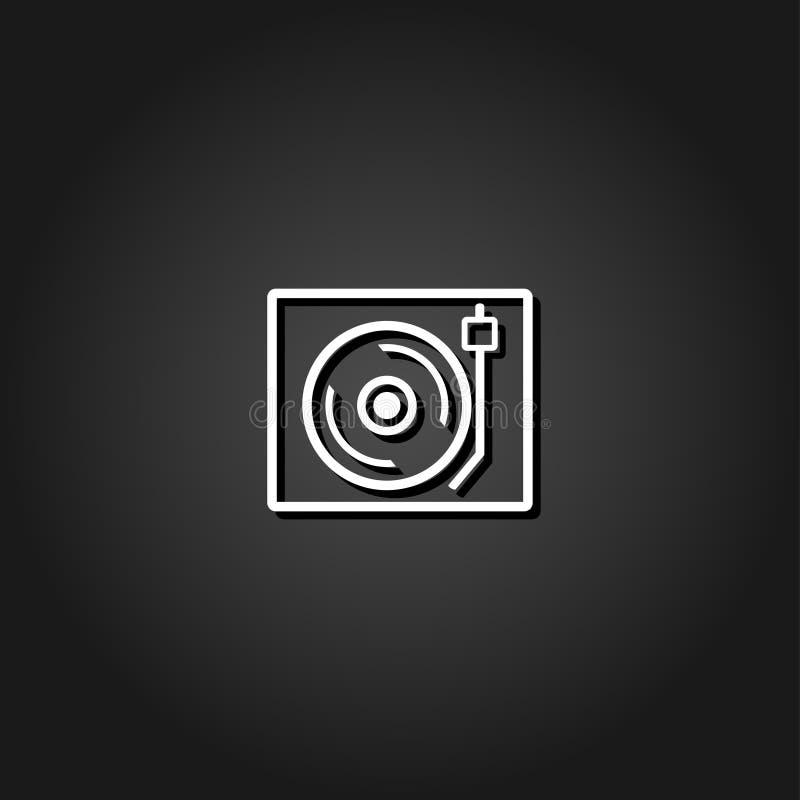 Retro muzyczny ikony mieszkanie ilustracja wektor