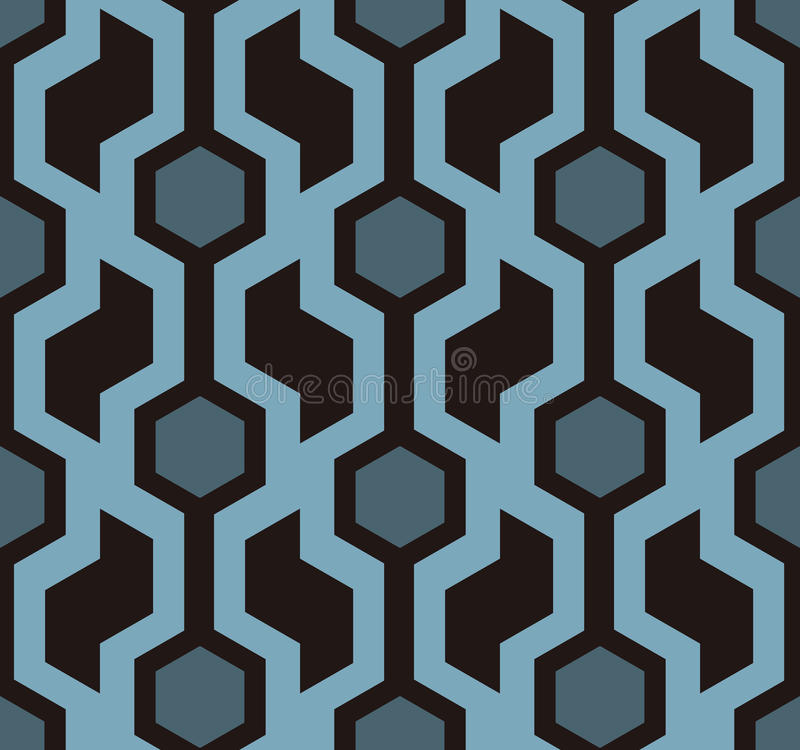 Retro naadloos patroon vector illustratie