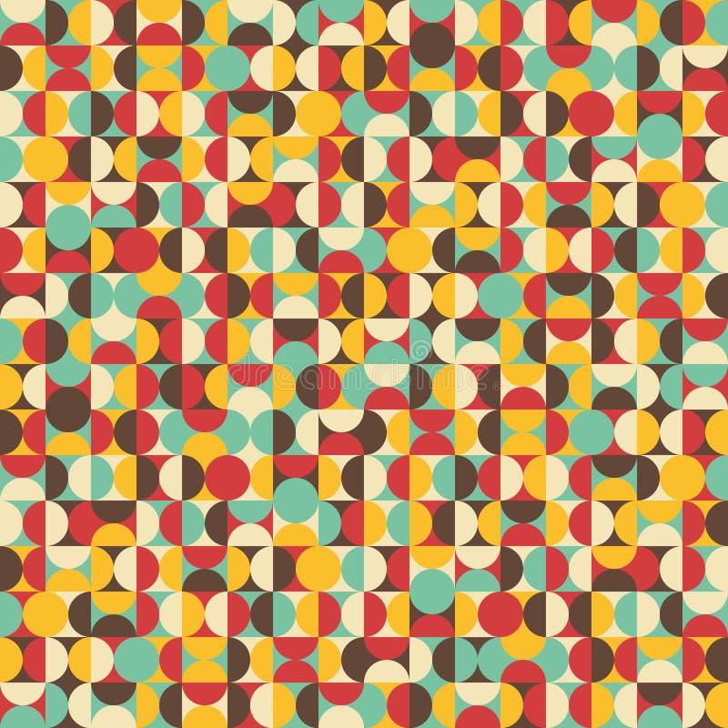 Retro naadloos patroon met cirkels. royalty-vrije stock foto's