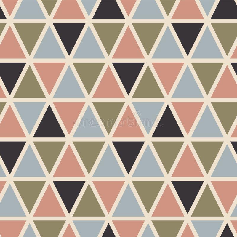 Retro naadloos patroon met driehoeken Skandinavische stijl vector illustratie