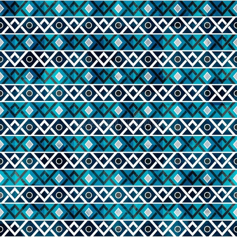 Retro naadloos patroon met grungeeffect stock illustratie