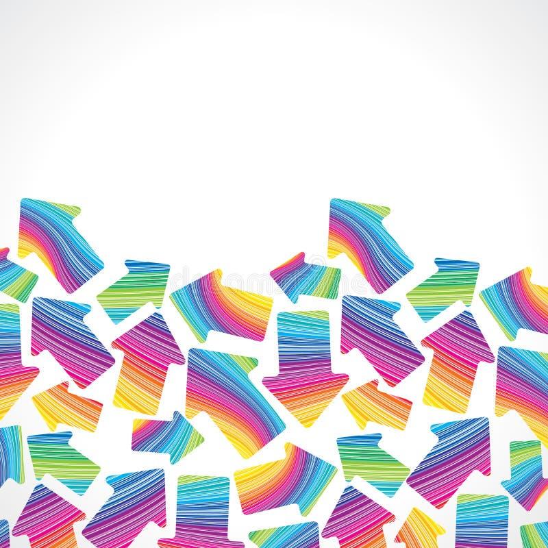Retro (naadloos) streeppatroon met pijlen stock illustratie
