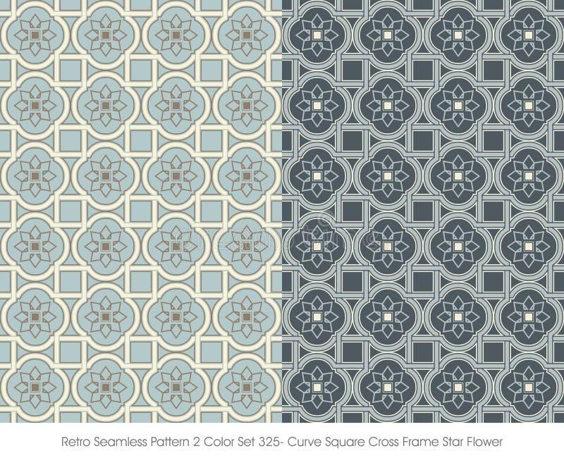 Retro- Nahtlose Kurven-Quadrat-Kreuz-Rahmen-Stern-Blume Des Muster-2 ...