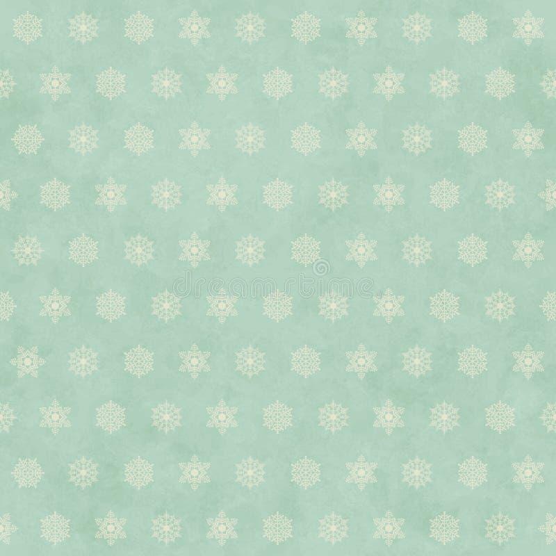 Retro- nahtloser Musterhintergrund des Weihnachtswinters lizenzfreie abbildung