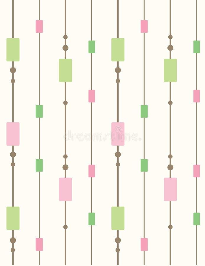 Retro- nahtloses Muster lizenzfreie abbildung