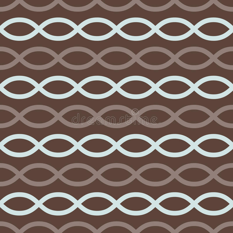 Retro- nahtloses Muster Browns vektor abbildung