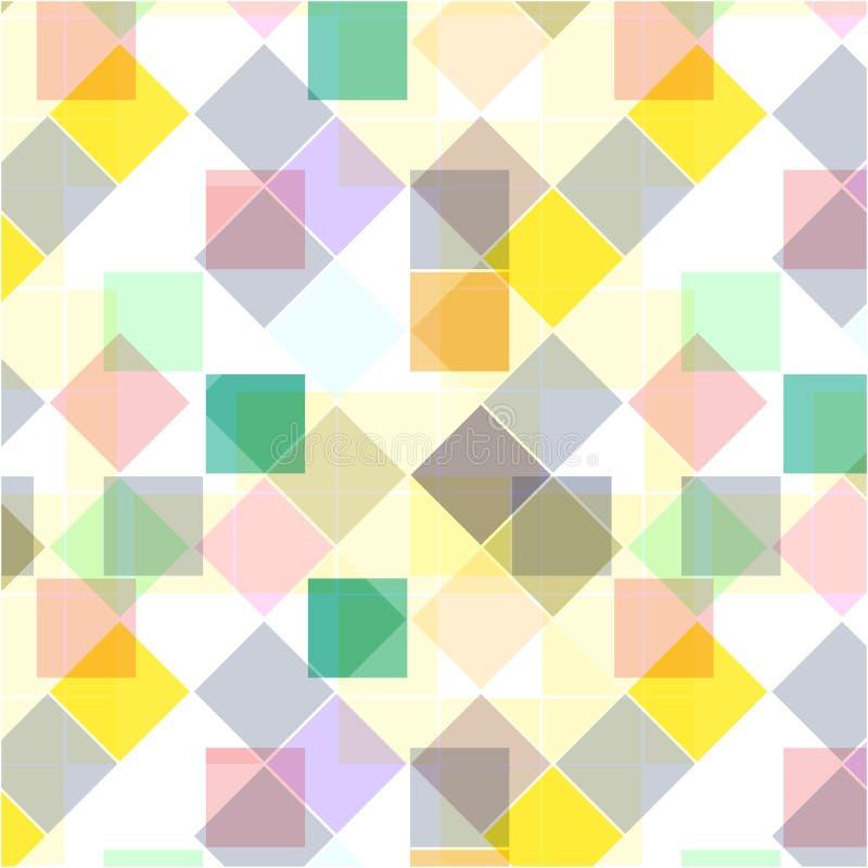 Retro- nahtloses Muster Bunte Mosaikfahne Wiederholen von geometrischen Fliesen mit farbiger Raute vektor abbildung