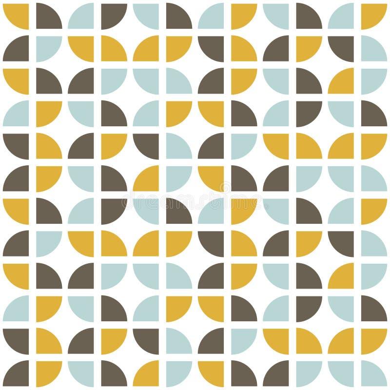 Retro- nahtloses Muster Moderne Art der Mitte des Jahrhunderts vektor abbildung