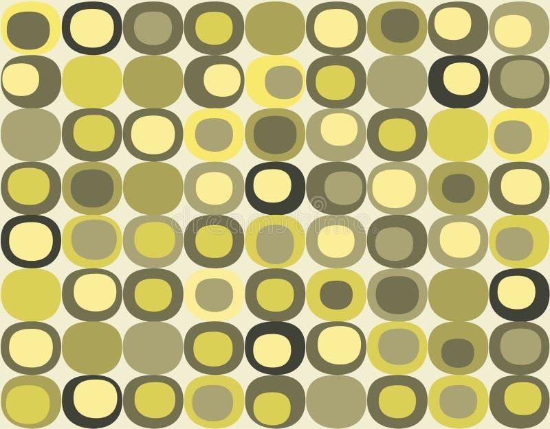 Retro- nahtloses quadratisches Muster vektor abbildung