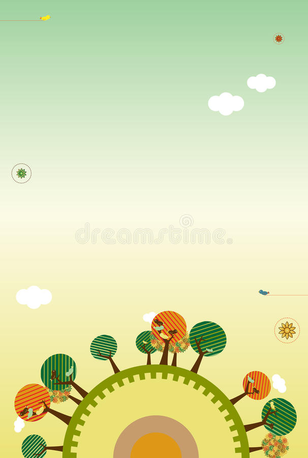Download Retro Nature Layout stock vector. Image of natural, design - 11349060