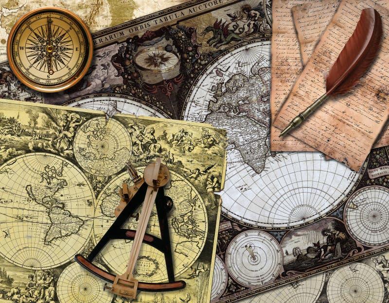 Retro- Navigation stockfotografie