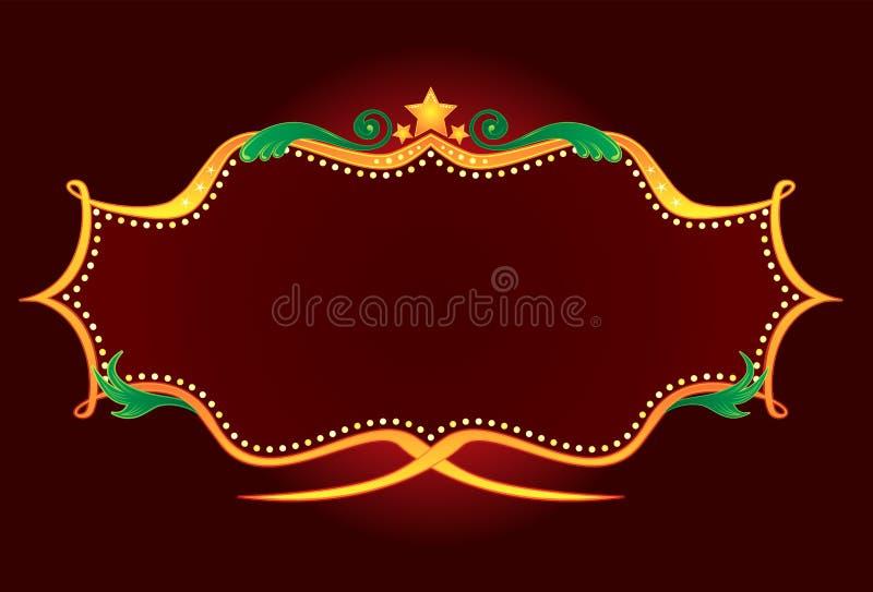Retro neon dell'oro illustrazione di stock