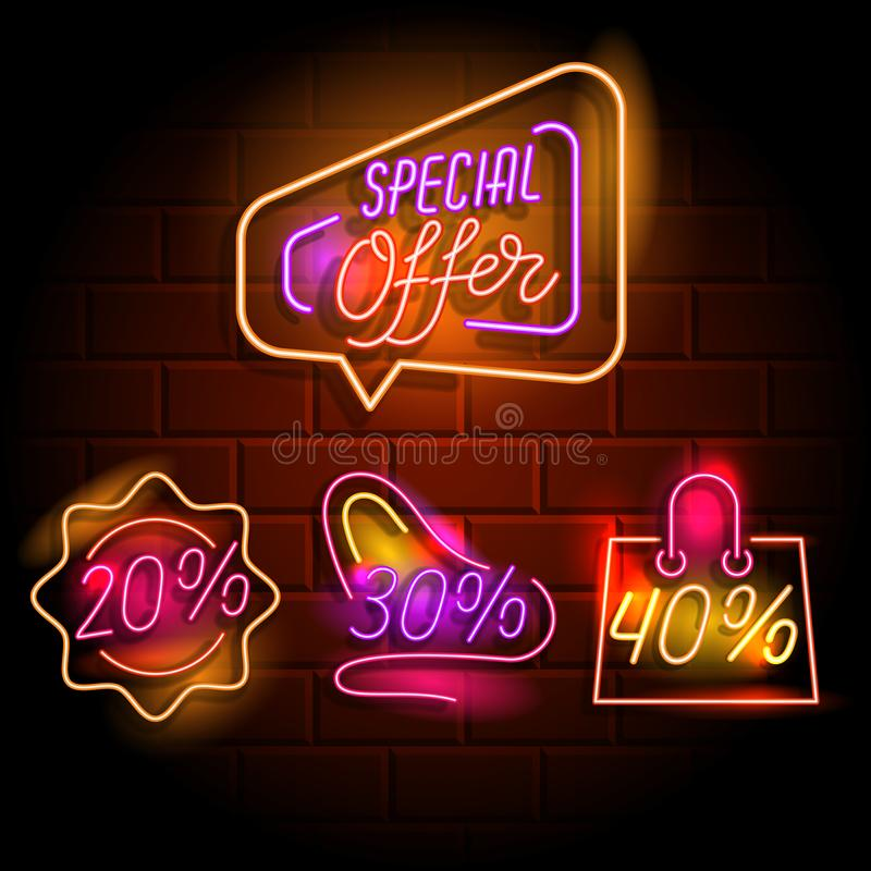 30 Percent Off Shopping Bag Stock Illustration