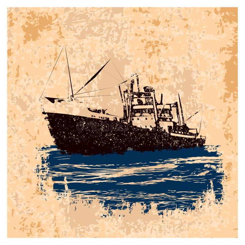 Retro_NN_ship libre illustration