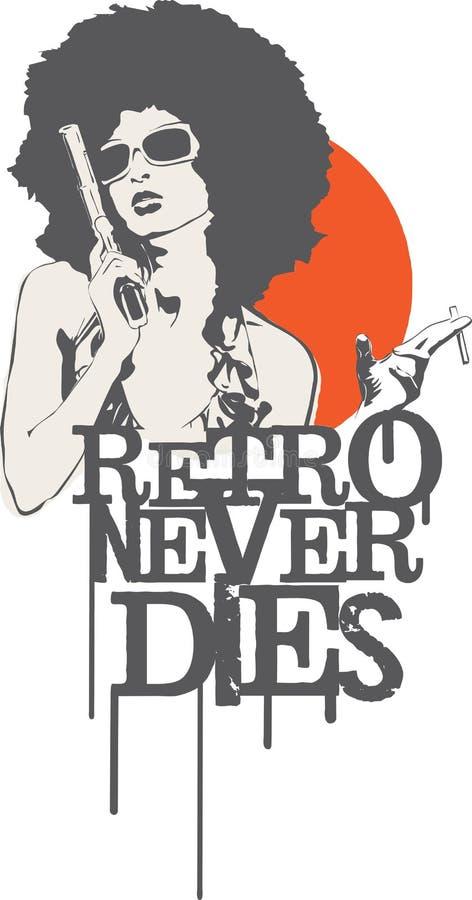 Retro nooit Matrijzen royalty-vrije illustratie
