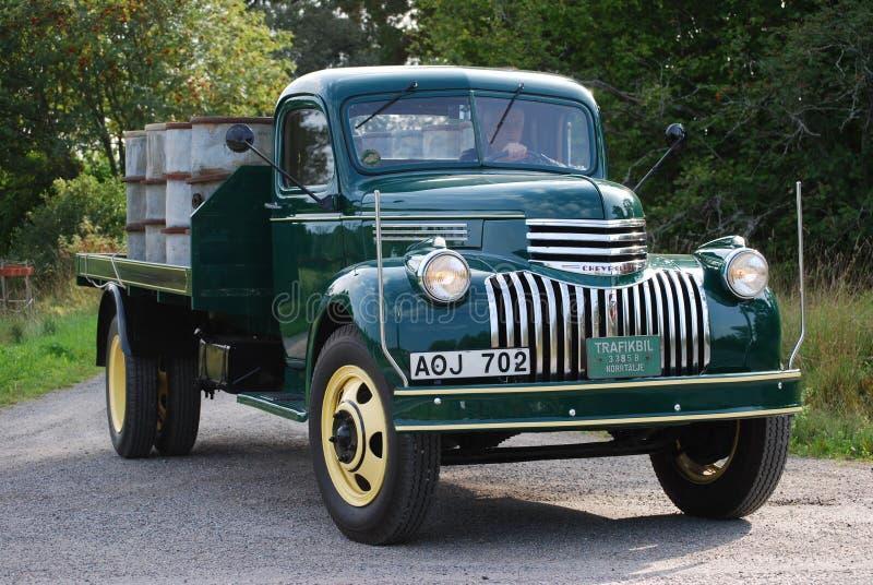 Retro Nowy warunek Antykwarski Chevy Chevrolet podnosi up ciężarówkę od 1946 zdjęcia royalty free