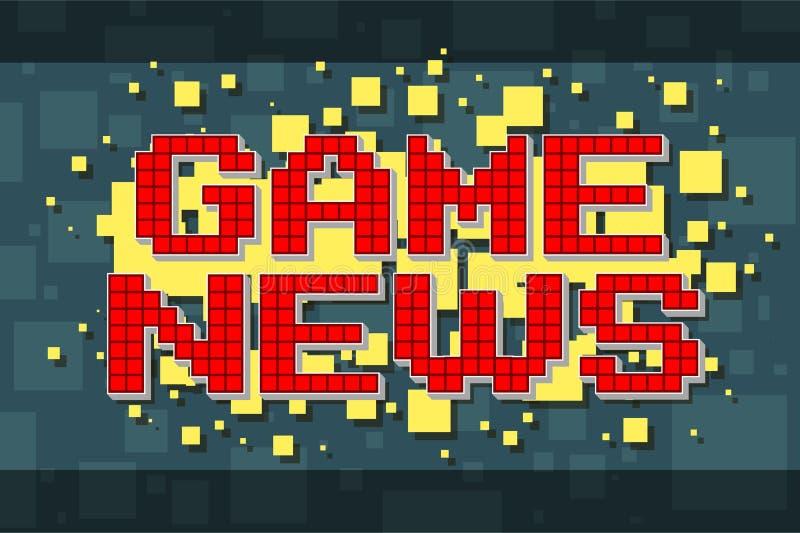 Retro nyheternaknapp för rött PIXEL för videospel vektor illustrationer