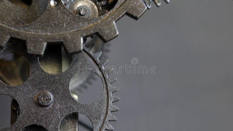 Retro Ośniedziałe mechanika zegaru przekładnie zdjęcie stock
