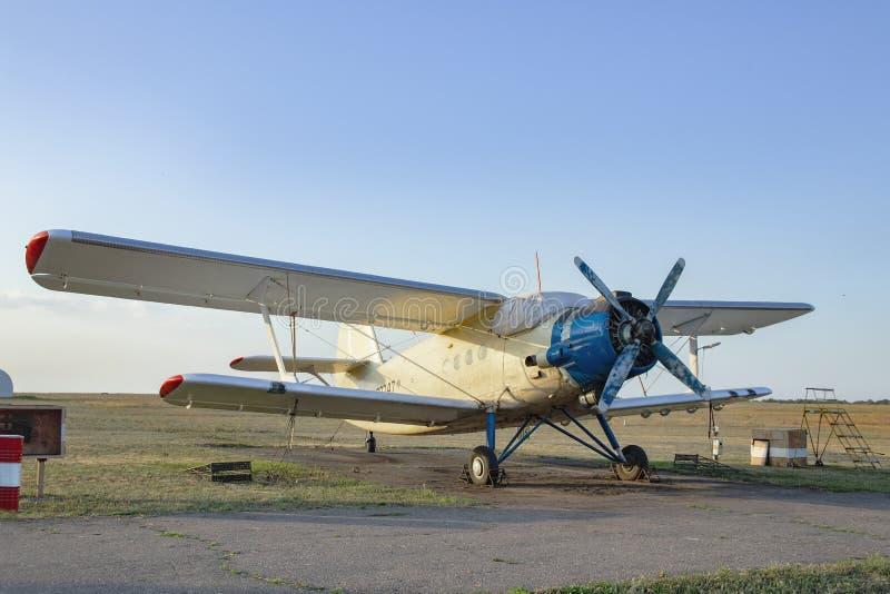Retro old plane royalty free stock photography