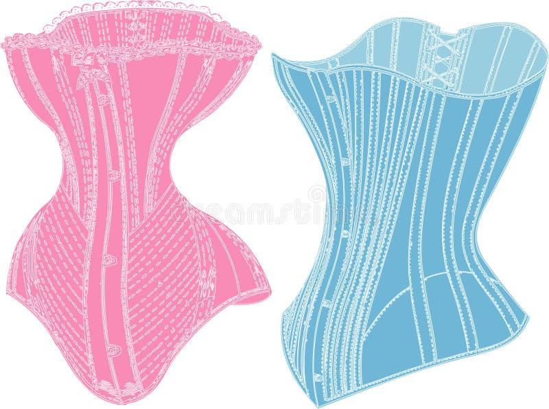 Retro ondergoed. royalty-vrije illustratie