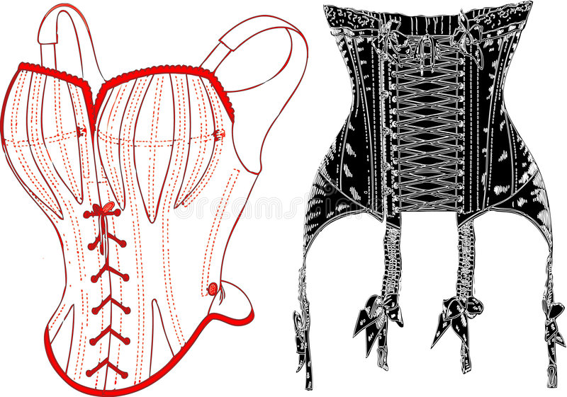 Retro ondergoed. vector illustratie