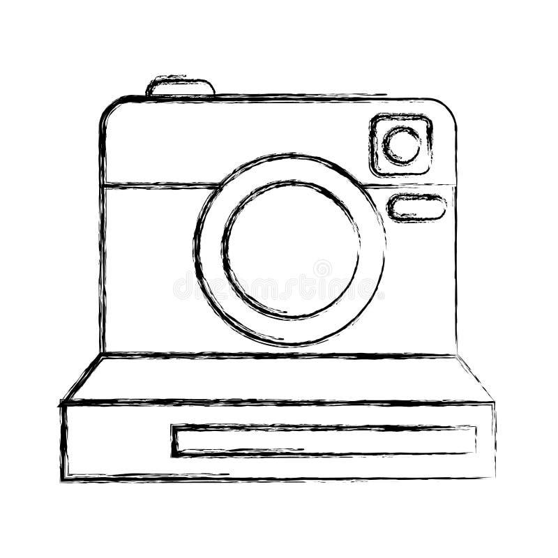 Retro onmiddellijk camera fotografisch geïsoleerd pictogram vector illustratie