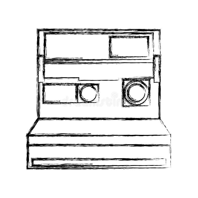 Retro onmiddellijk camera fotografisch geïsoleerd pictogram stock illustratie