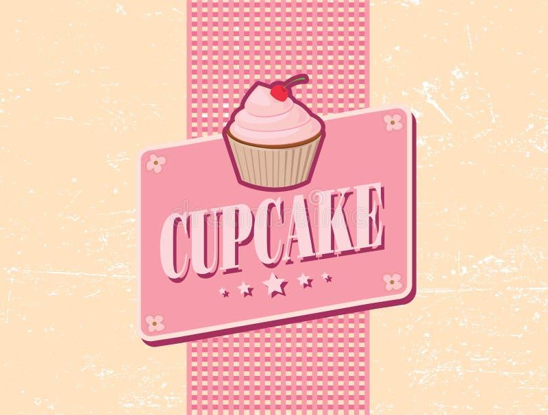 Retro ontwerp van Cupcake royalty-vrije illustratie