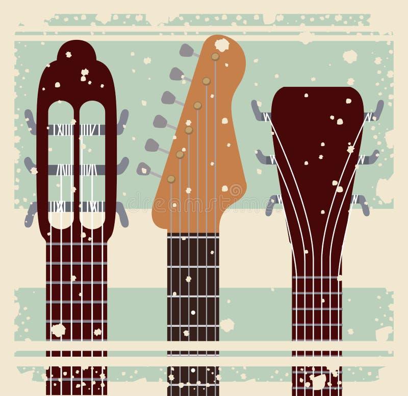 Retro ontwerp van het de affichepictogram van het muziekfestival vector illustratie