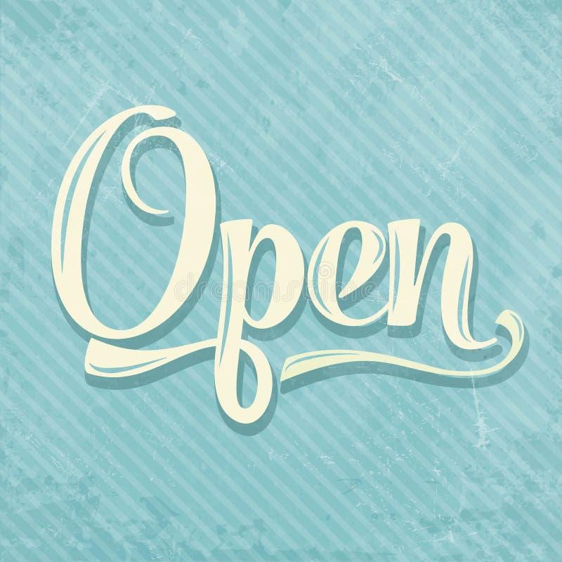 Retro open teken royalty-vrije illustratie