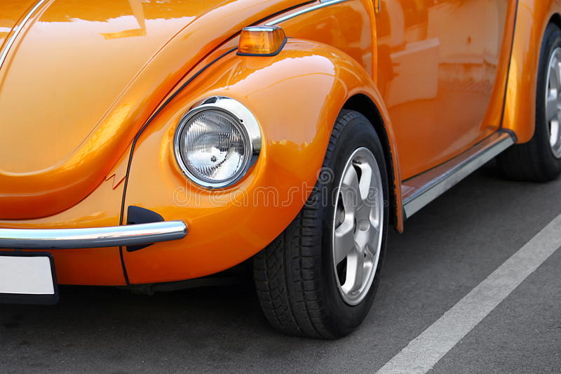 Retro Orange Car Royalty Free Stock Photos