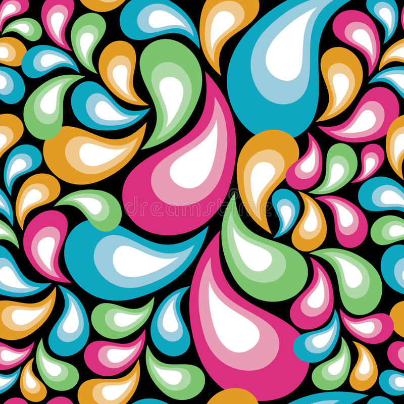 Retro Organic Pattern. In multicolors repeats seamlessly vector illustration