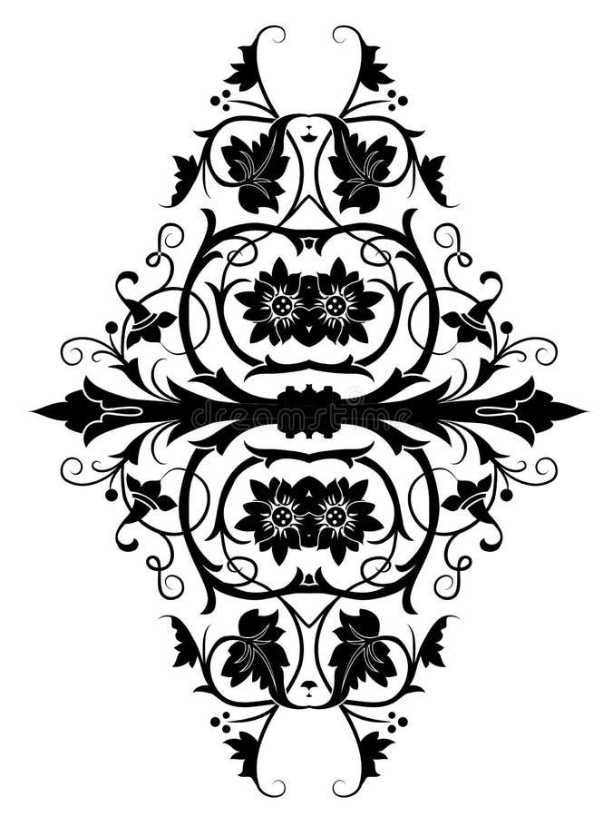 Retro Orient Flower Pattern Royalty Free Stock Image